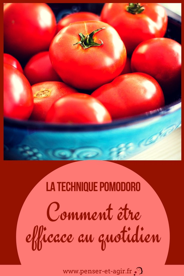 La technique pomodoro : comment être efficace au quotidien  Comment être efficace grâce à la technique pomodoro. Dans cet article, apprenez comment exploiter efficacement la méthode de la tomate.