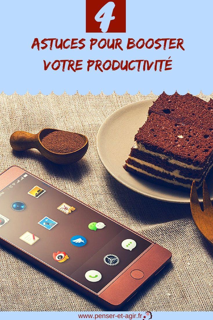4 astuces pour booster votre productivité  Comment booster votre productivité ? Voici 4 astuces pour être plus productif au quotidien. Appliquez ces conseils et améliorez votre productivité !