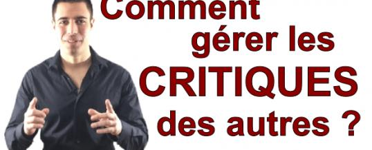 Comment Gérer Et Filtrer Les Critiques Des Autres
