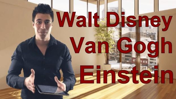 Destins extraordinaires - Walt Disney-Einstein-Van Gogh
