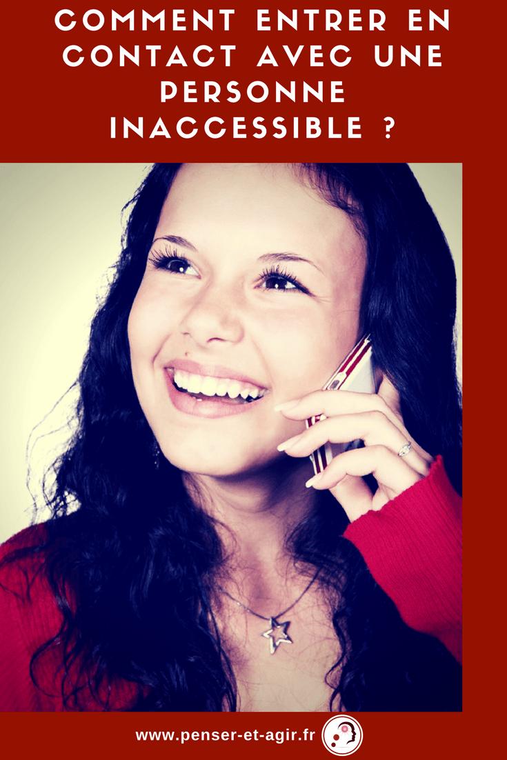 Comment entrer en contact avec une personne inaccessible ?  Bienvenue dans l'épisode 24 de la série