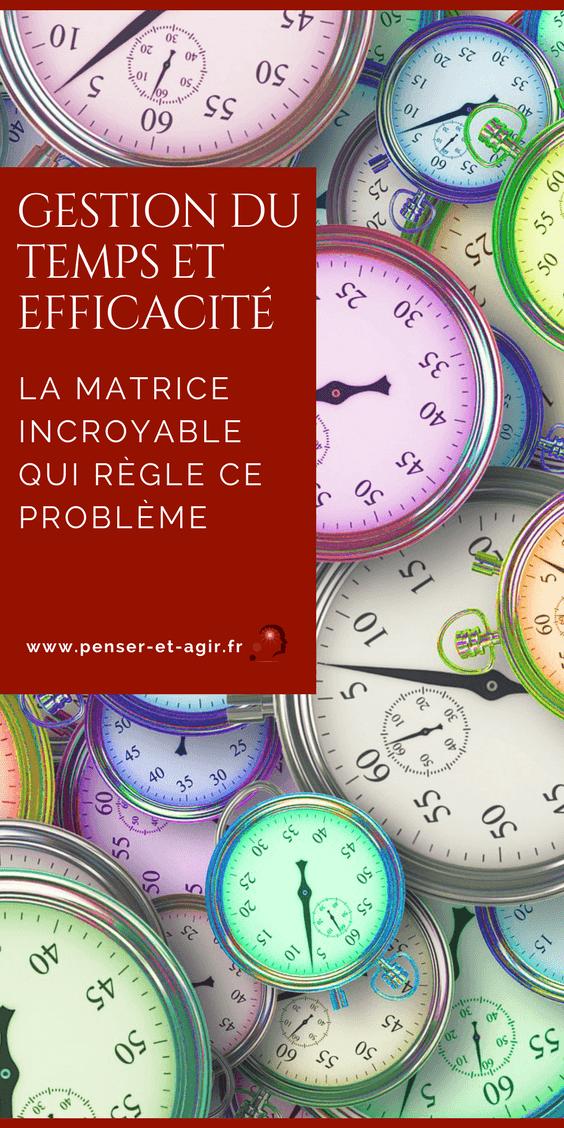 Gestion du temps et efficacité : la matrice incroyable qui règle ce problème  On a parfois l\'impression que 24h dans une journée ne suffisent plus. Cet article explique comment faire la gestion du temps avec la matrice d\'Einsenhower.