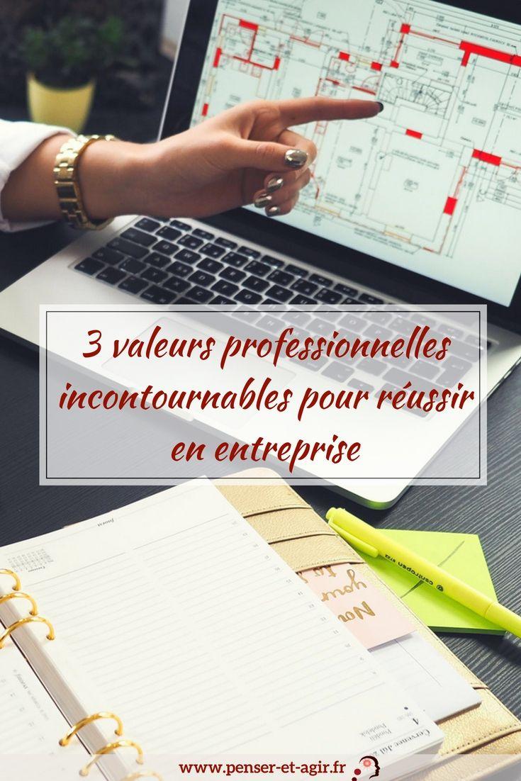3 valeurs professionnelles incontournables pour réussir en entreprise  Découvrez les 3 valeurs professionnelles grâce auxquelles vous deviendrez un grand leader et une meilleure personne tant au travail qu'en dehors.