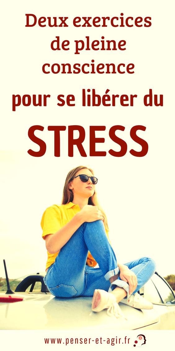 Deux exercices de pleine conscience pour se libérer du stress  Vous avez certainement entendu parler de vivre le moment présent. Mais comment le faire grâce à la pleine conscience sans être un pratiquant régulier de...