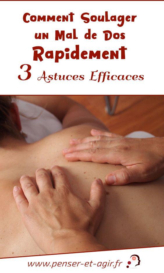 Comment soulager un mal de dos rapidement : 3 astuces efficaces  Le mal de dos est un problème très fréquent. Cependant, il existe des traitements efficaces. Découvrez donc comment soulager un mal de dos rapidement