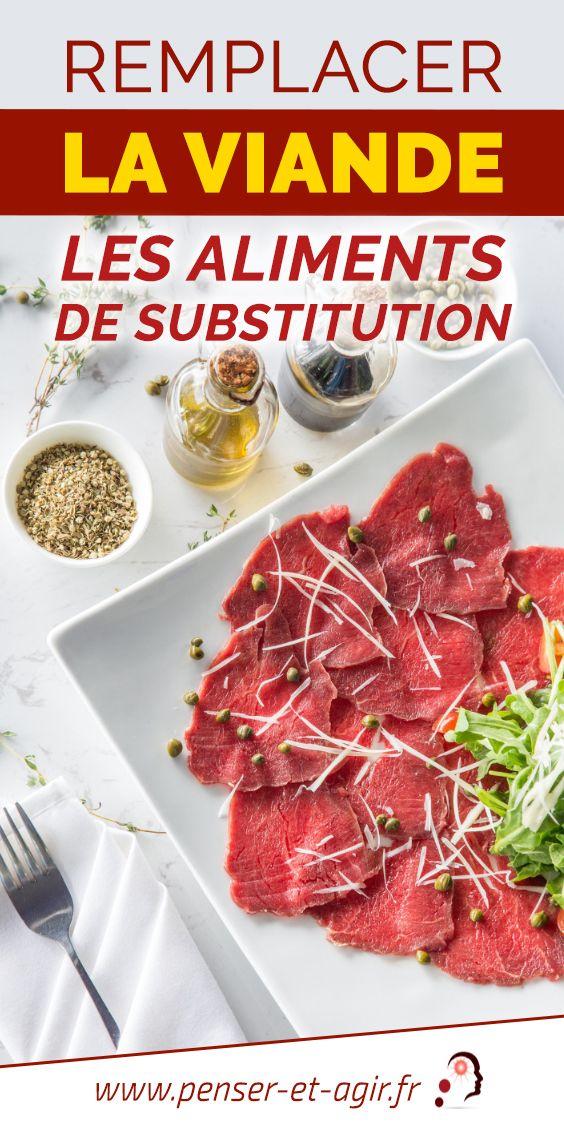 Remplacer la viande : les aliments de substitution  Nous sommes plusieurs à vouloir remplacer la viande. Cela pour des raisons éthiques ou de santé. Mais comment éviter de consommer cet aliment ?