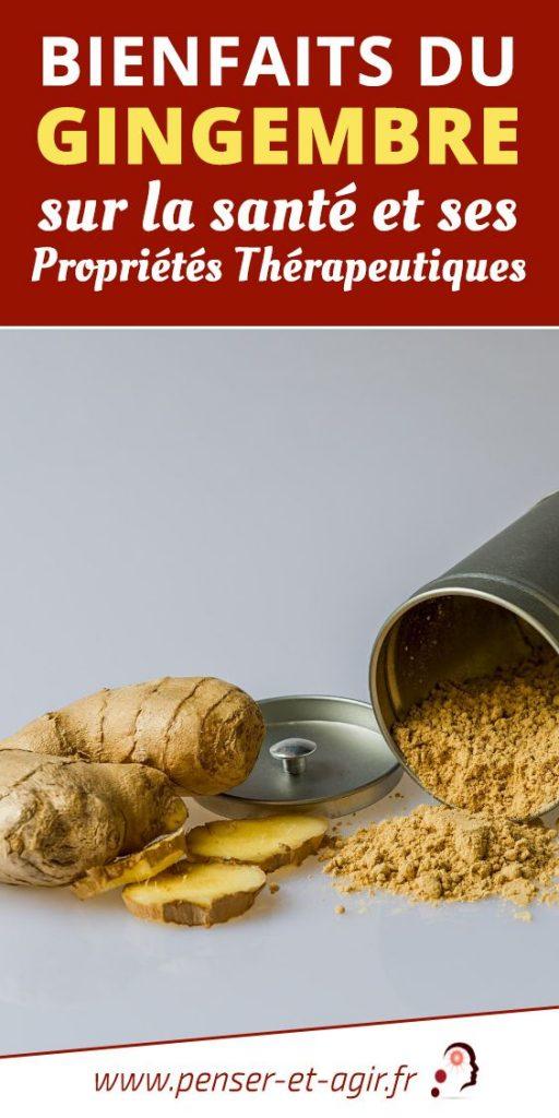 Bienfaits du gingembre sur la santé et ses propriétés thérapeutiques