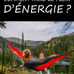 Se ressourcer: comment faire le plein d'énergie?