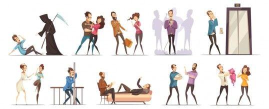 différents types de phobies